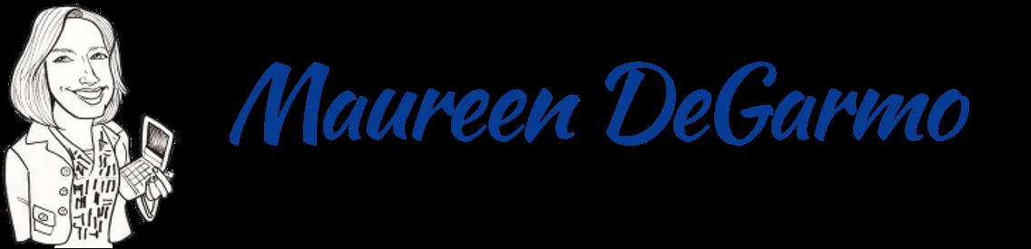 Sketch and name of Maureen DeGarmo, digital artist